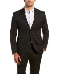 Versace 2pc Wool-blend Suit With Flat Pant - Black