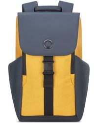 Delsey Securflap 15in Laptop Backpack - Yellow