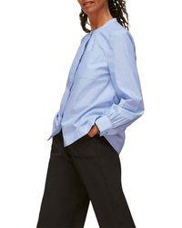 Whistles Stripe Pocket Shirt - Blue