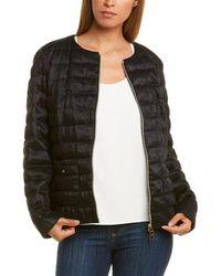 Herno Linen Puffer Down Jacket - Black