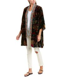 Johnny Was Silk-blend Kimono - Black