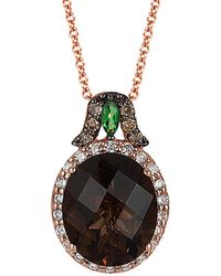 Le Vian - ® Chocolatier® 14k Rose Gold 4.18 Ct. Tw. Diamond & Gemstone Necklace - Lyst
