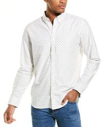 Joules Invitation Classic Fit Woven Shirt - White