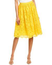 J.Crew Midi Skirt - Yellow
