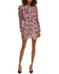 Monique Lhuillier Ml Velvet Burnout Mini Dress - White