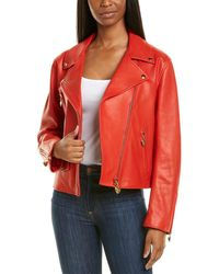 ESCADA Lalis Leather Jacket - Red