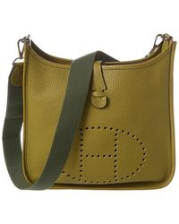 Hermès Green Clemence Leather Evelyne Ii Pm