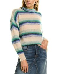 Isabel Marant Drussel Striped Mohair & Wool-blend Sweater - White