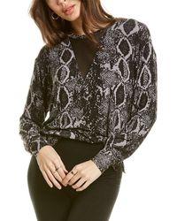 LNA Orion Snake Sweatshirt - Grey