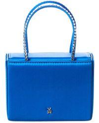 AMINA MUADDI Super Amini Gilda Crystal Embellished Satin Handbag - Blue
