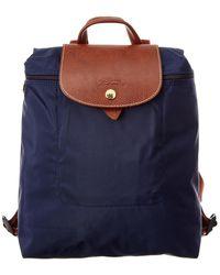 Longchamp Le Pliage Nylon Backpack - Blue