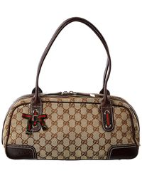 Gucci Brown GG Canvas & Leather Princy Bag