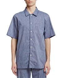 Sleepy Jones Henry Pajama Shirt - Blue