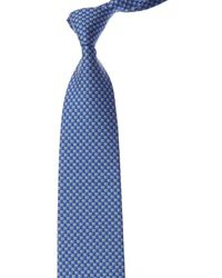 Ferragamo Blue Bird Silk Tie