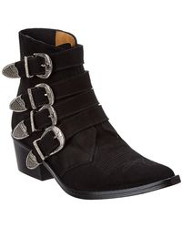 Toga Suede Boot - Black