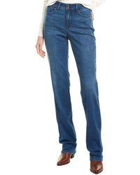 NYDJ Marilyn Med Market Straight Leg Jean - Blue