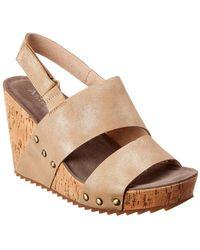 Antelope 756 Leather Wedge Sandal - Metallic