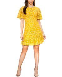 a. calin Crew Neck Mini Dress - Yellow