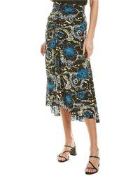 A.L.C. Mabelle Silk-blend Midi Skirt - Black