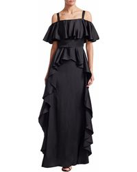Temperley London Hippolyta Ruffle Maxi Dress - Black