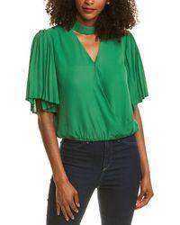 Gracia Wrap Top - Green