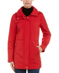 Cole Haan Packable Rain Jacket - Red
