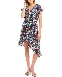 Parker Asymmetrical Midi Dress - Black