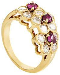 Heritage Van Cleef & Arpels - Van Cleef & Arpels 18k 1.20 Ct. Tw. Diamond & Ruby Ring - Lyst