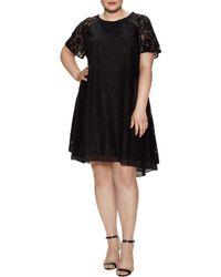 RACHEL Rachel Roy - Lace Raglan Asymmetric Dress - Lyst