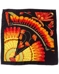"""Hermès """"brazil,"""" By Laurence Toutsy Bourthoumieux Silk Scarf - Red"""