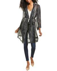 Go> By Go Silk Go By Go>silk Haute Hippie Silk Kimono - Black