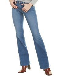 7 For All Mankind 7 For All Mankind Kimmie Perry Silk-blend Bootcut Jean - Blue