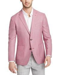 Bonobos Standard Fit Fashion Unconstructed Wool Blazer - Pink