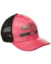 Gucci Print Leather Baseball Cap - Multicolour