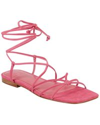 Marc Fisher Marina Suede Barely There Sandal - Pink