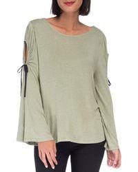 Bobeau Yara Cold Shoulder T-shirt - Green
