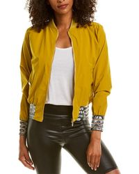 Versace Shadow Stripe-trim Jacket - Yellow