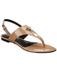 f3772741cf6367 Versace - Medusa Palazzo Sling Back Patent Sandal - Lyst