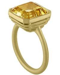 Tate - 18k 6.02 Ct. Tw. Yellow Beryl Ring - Lyst