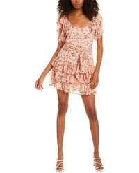 LoveShackFancy Kimbra Silk Mini Dress - Pink