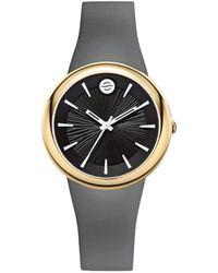 Philip Stein Unisex Rubber Watch - Metallic