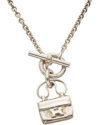 Hermès - Silver-tone Constance Necklace - Lyst