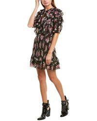 Rebecca Taylor - Bouquet Ruffle Silk-blend Dress - Lyst