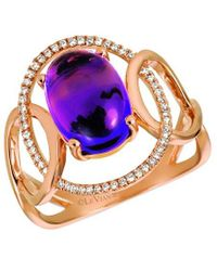 Le Vian ? 14k Strawberry Gold 3.08 Ct. Tw. Diamond & Amethyst Ring - Metallic