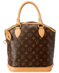 Louis Vuitton Monogram Canvas Lockit Vertical - Brown