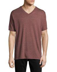 Alternative Apparel - Boss V-neck Striped T-shirt - Lyst