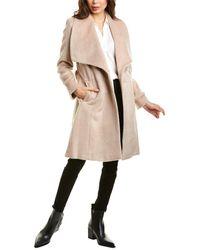 Cole Haan Tie-waist Wool & Alpaca-blend Wrap Coat - Natural