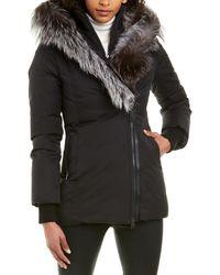 Mackage Priya-x Fitted Down Leather-trim Coat - Black