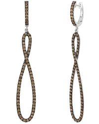 Le Vian ? Chocolatier? 14k Vanilla Gold? 1.04 Ct. Tw. Diamond Earrings - Metallic