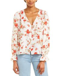 Joie Floral Bolona Top - White